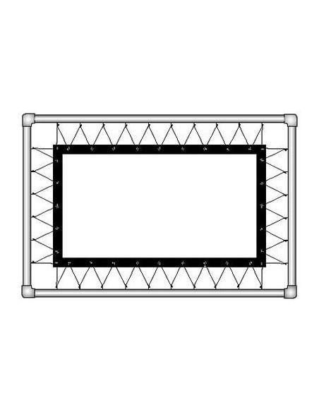 Экран обратной проекции на люверсах из полотна