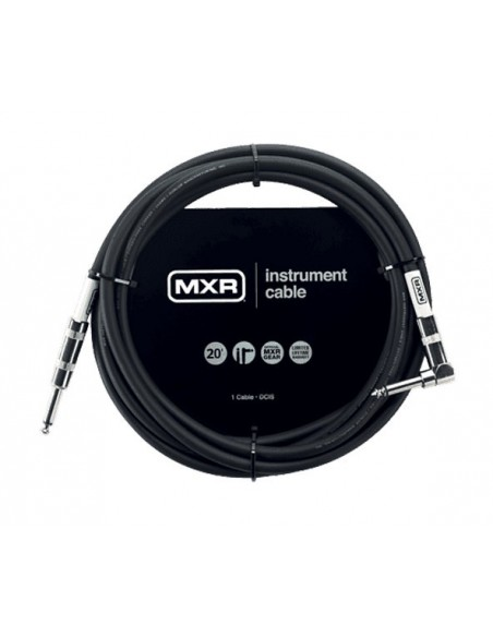 Кабель DUNLOP DCIS20R MXR STANDARD INSTRUMENT CABLE 20ft (Straight/Right)