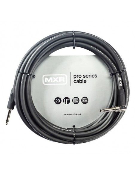 Кабель DUNLOP DCIX20R MXR PRO SERIES INSTRUMENT CABLE 20ft (Straight/Right)