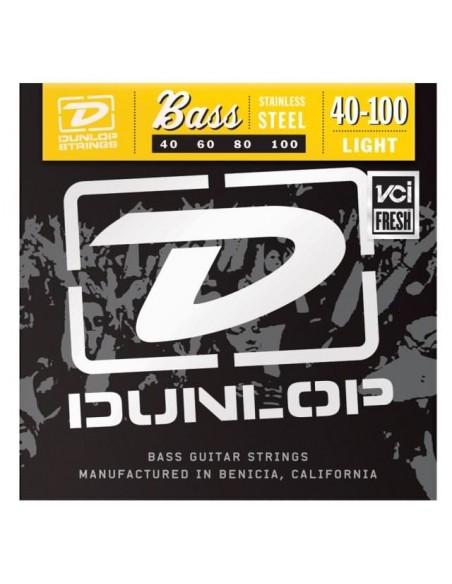 Струны для гитар DUNLOP DBS40100 STAINLESS STEEL LIGHT 40-100