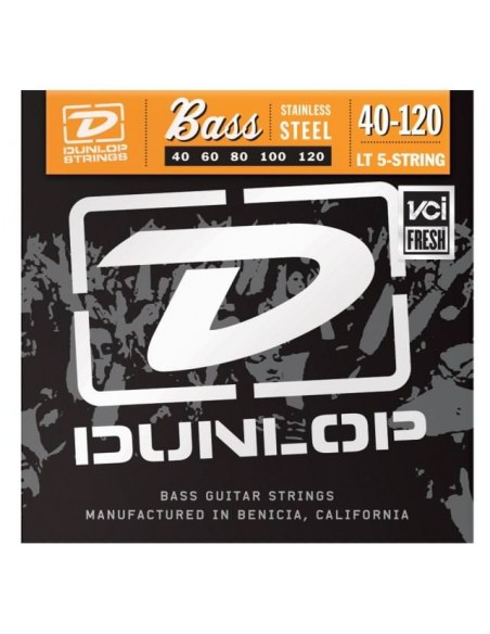 Струны для гитар DUNLOP DBS40120 STAINLESS STEEL LIGHT 5 STRING 40-120