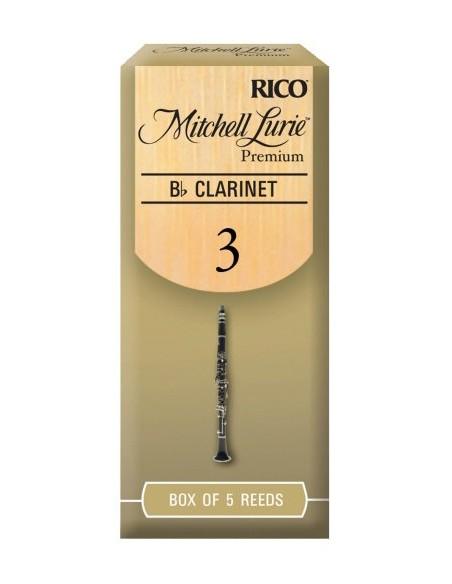 Трости для духовых RICO Mitchell Lurie Premium - Bb Clarinet 3.0