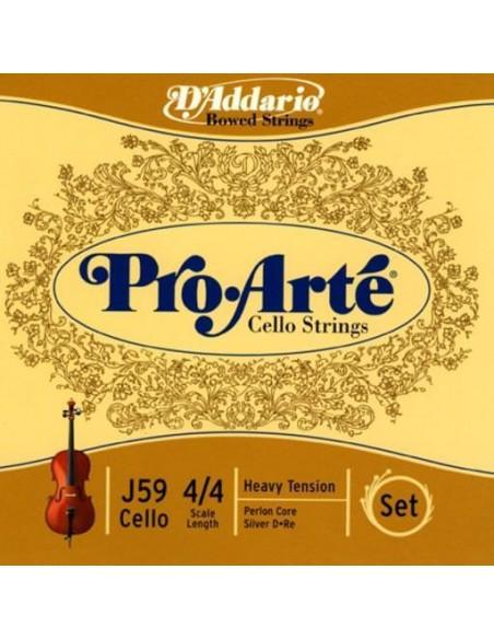 Струны для смычковых D`ADDARIO J59 4/4H Pro Arte 4/4H