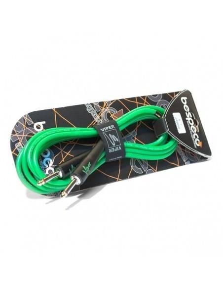 Инструментальный кабель BESPECO VIPER300 Fluorescent Green