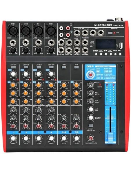 Аналоговый микшер BIG MS8002XDUSB