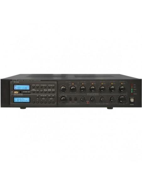 Apart MA247MR 6-ти зонный микшер-усилитель, встроенный FM-тюнер/MP3/USB и SD/MMC плеер. 240 Вт/100В.