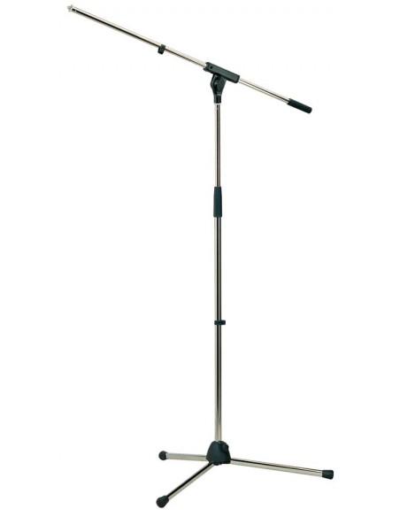 Konig & Meyer 27105-300-01 Недорогая профессиональная микрофонная стойка, никелированная