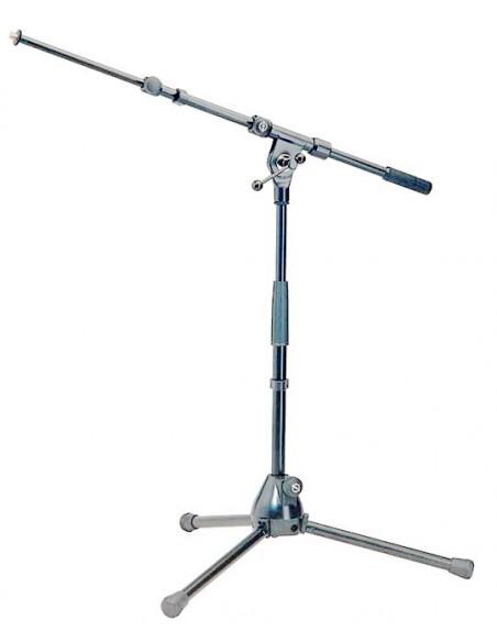 Konig & Meyer 25900-300-01 Низкая микрофонная стойка, никелированная