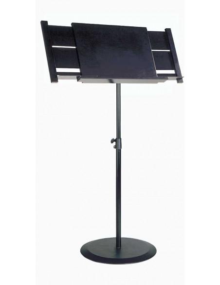 Konig & Meyer 12322-000-55 Стационарный оркестровый дирижерский пюпитр, черный