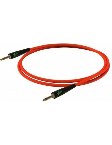 Инструментальный кабель BESPECO VIPER500 Fluorescent Red