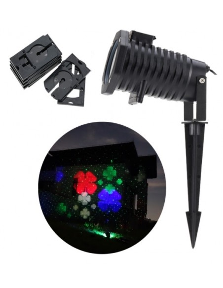 Лазер уличный водонепроницаемый 13P02 Red + Green moving firefly garden laser + LED