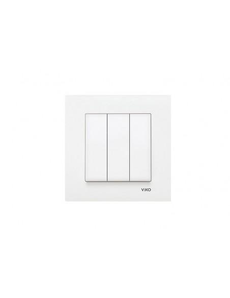 Выключатель VIKO KARRE белый трёхклавишный