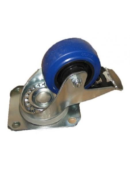 Ролик поворотный с тормозом HYC-casB 80 мм