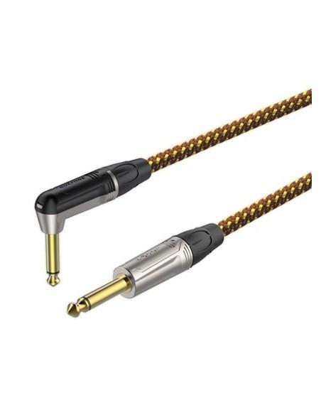 Готовый инструментальный кабель Roxtone TGJJ310L3, 1x0.22 кв.мм, вн.диаметр 6,5 мм, 3 м