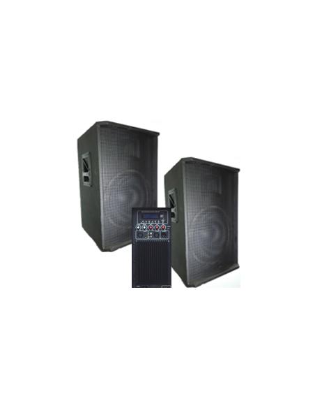 Набор BIG SET2*15-500A активная + пассивная-USB/MP3/FM/BT