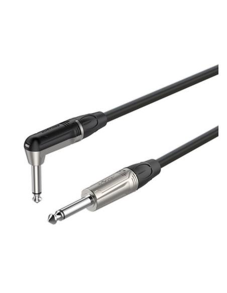 Готовый инструментальный кабель Roxtone DGJJ110L5, 2x0.22 кв.мм, вн.диаметр 6 мм, 5 м