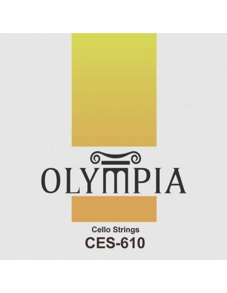 Струны OLYMPIA CES-610 для виолончели, хром - никелированная/посеребренная обмотка
